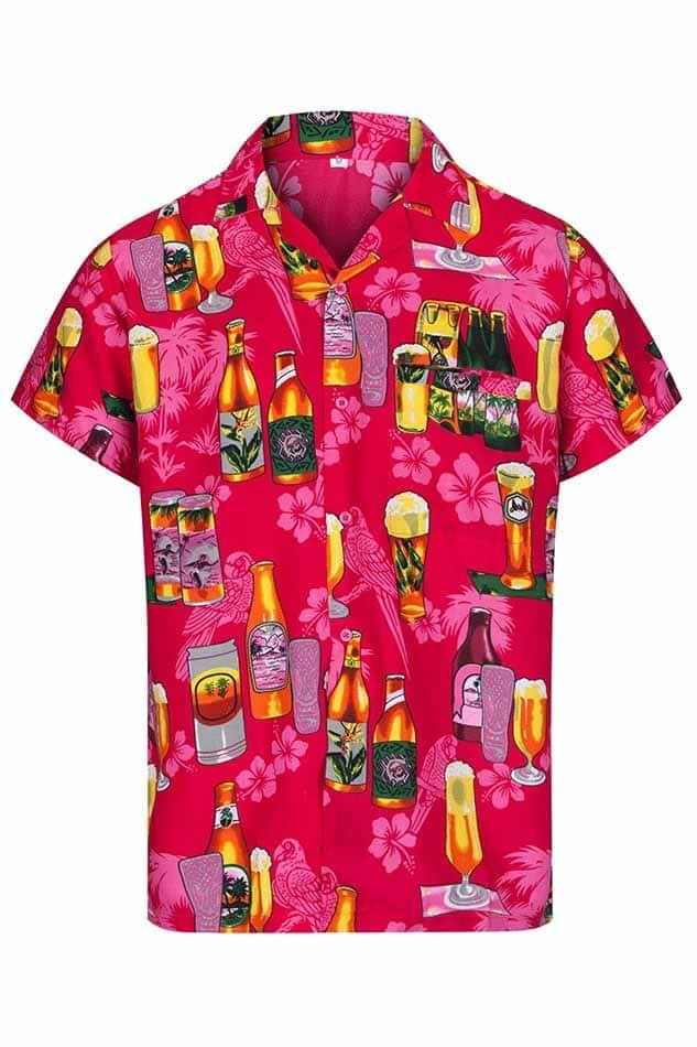 3d12e4216280 Pink Beer Print Hawaiian Shirt – Hawaiian Shirts Online
