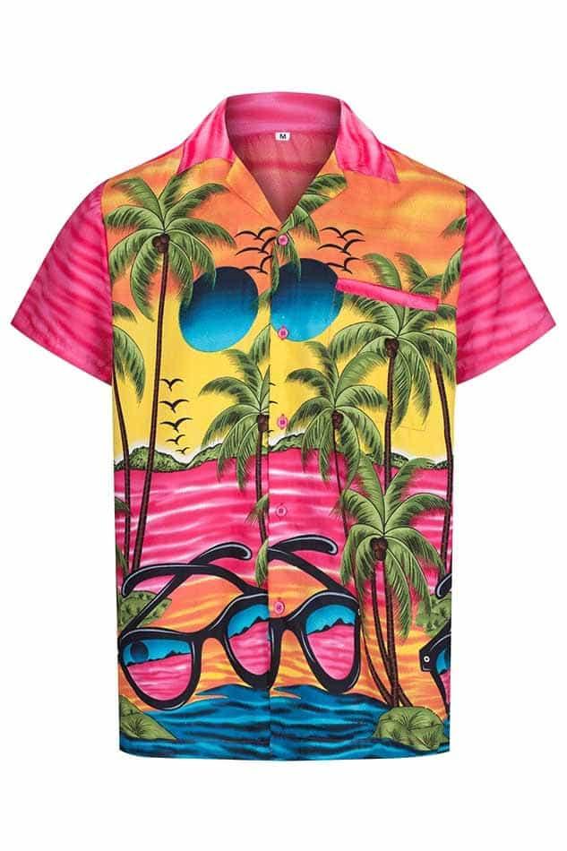 ff7aea02 Men's Pink Hawaiian Shirt - Hawaiian Shirts Online