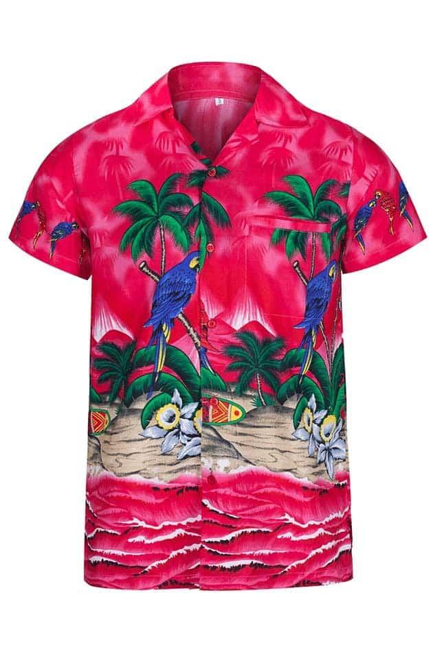 adcd1a30cdf0 Bright Pink Hawaiian Shirt – Hawaiian Shirts Online